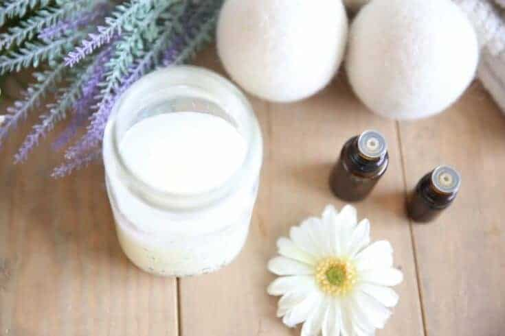 Homemade Laundry Soap with Essential Oils