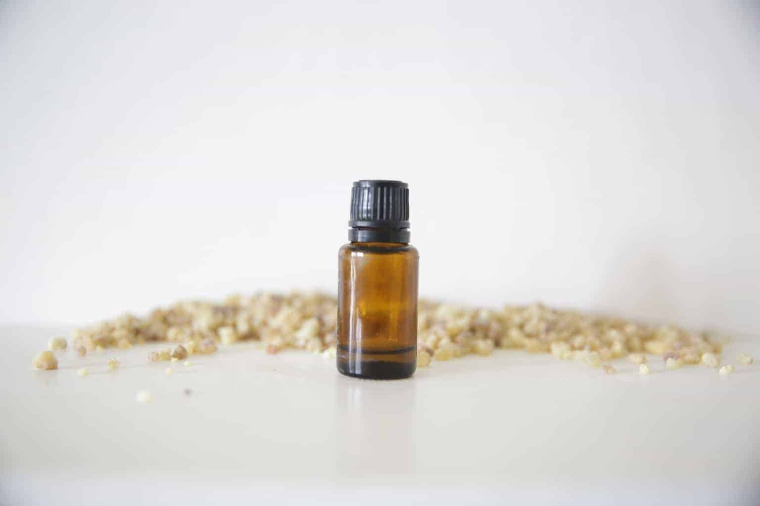 frankincense essential oil bottle