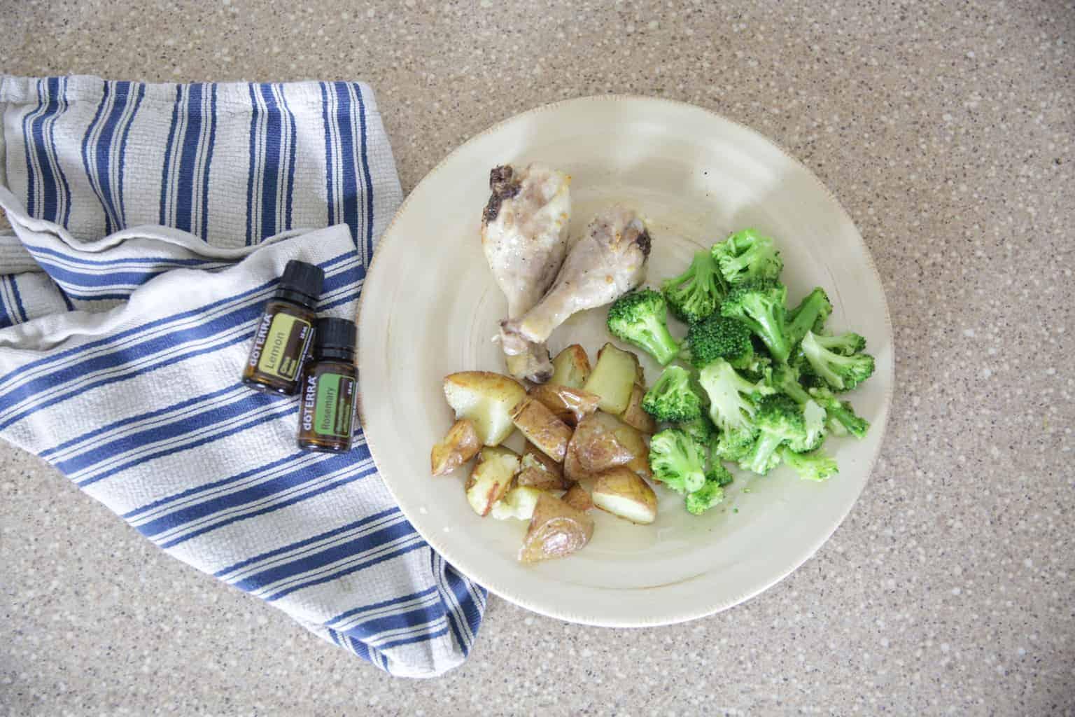 Lemon Rosemary Chicken Roasted Rosemary Potatoes And Lemon Pepper Broccoli Our Oily House