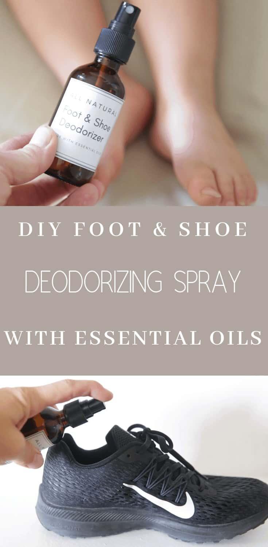 DIY Foot and Shoe Deodorizer Spray pin