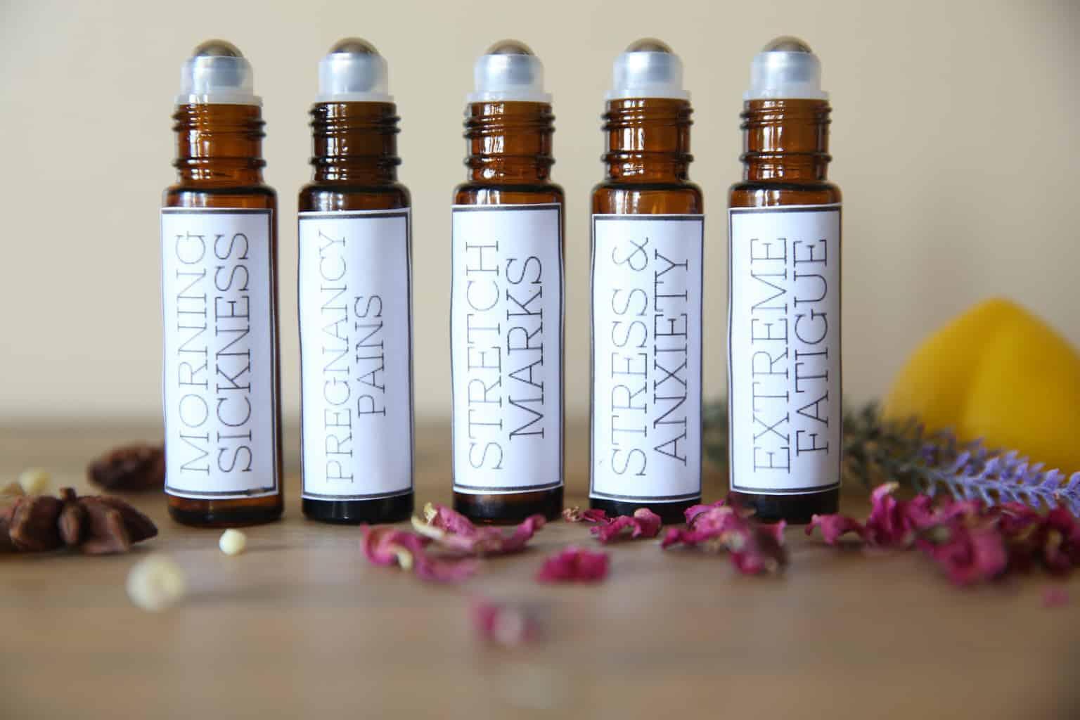 essential oil rollerballs for pregnancy