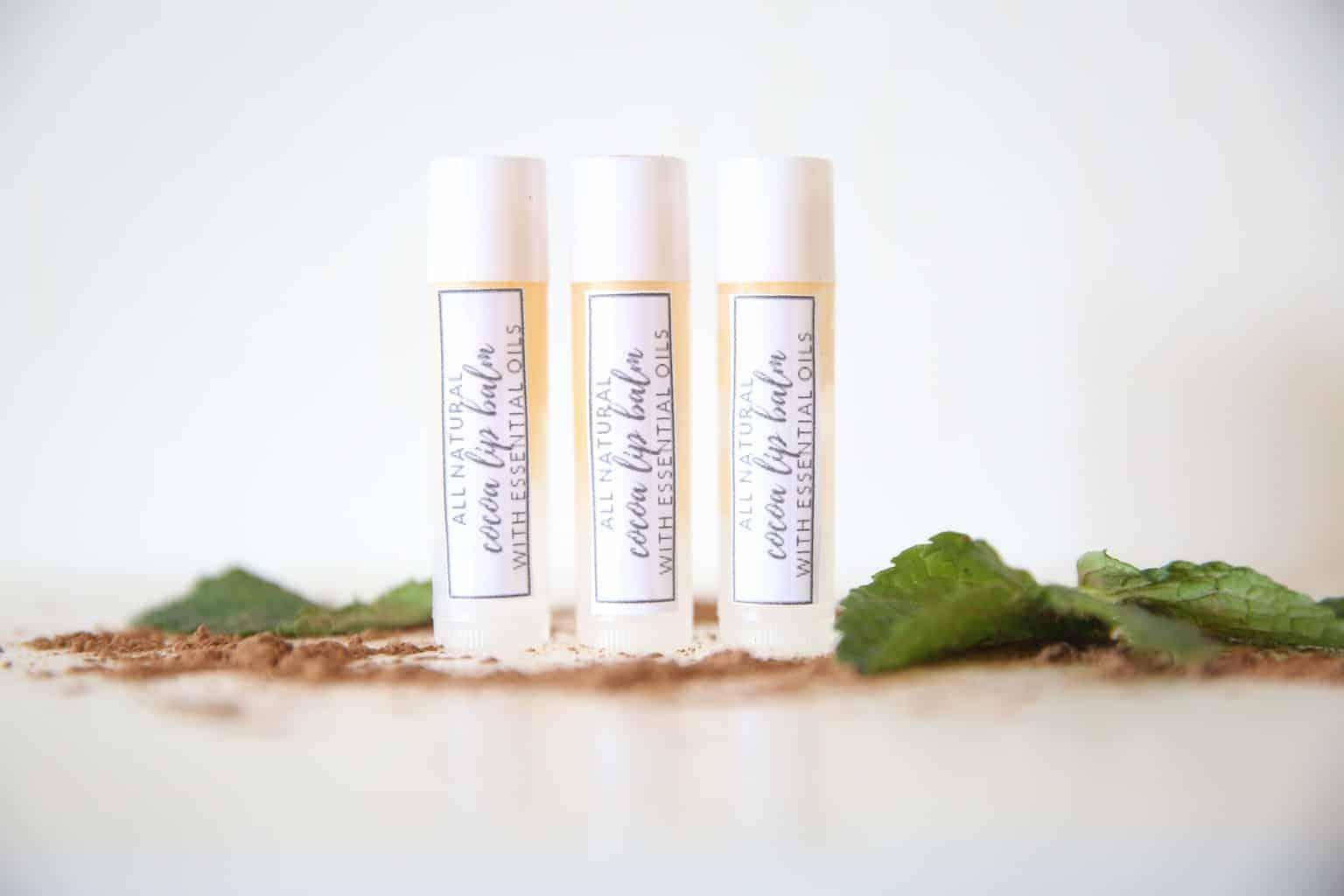 DIY lip balm with essential oils.