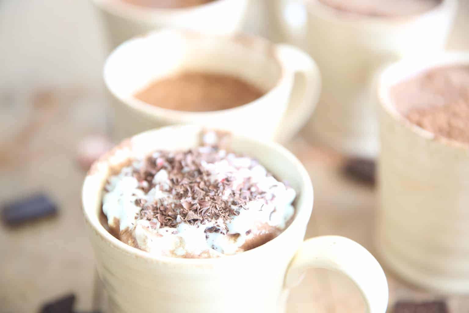 Paleo Peppermint Hot Chocolate in mug