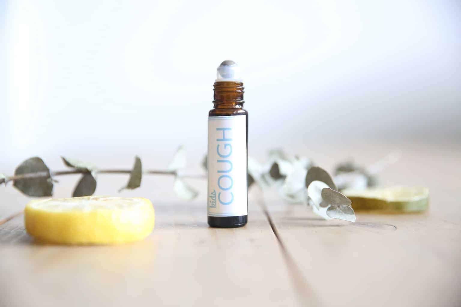 kids cough essential oil roller bottle