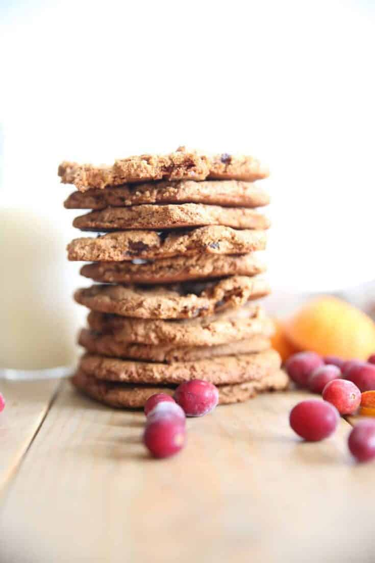 Paleo Orange Cranberry Cookies