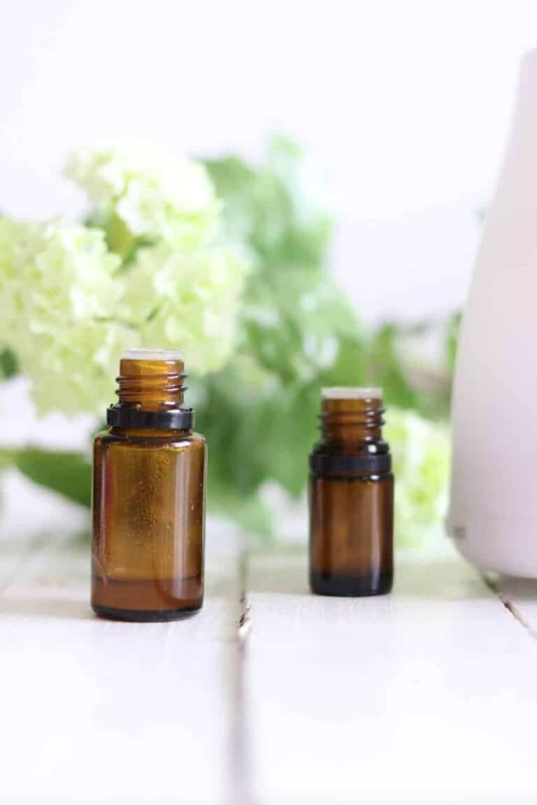 Essential oil diffuser with 2 oil bottles.