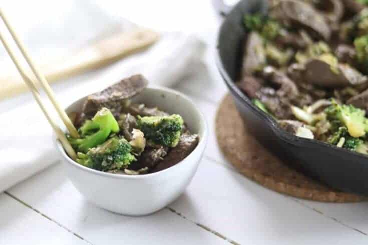 Paleo + Whole 30 Broccoli and Beef Chinese Stir Fry