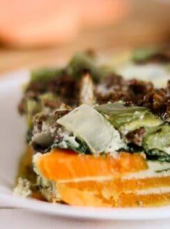 healthy sweet potato breakfast casserole.
