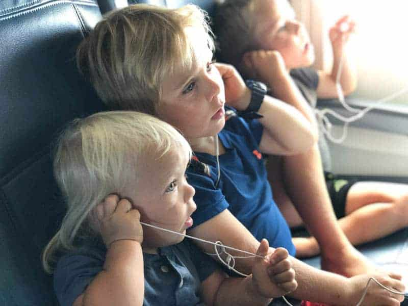flying with 3 kids