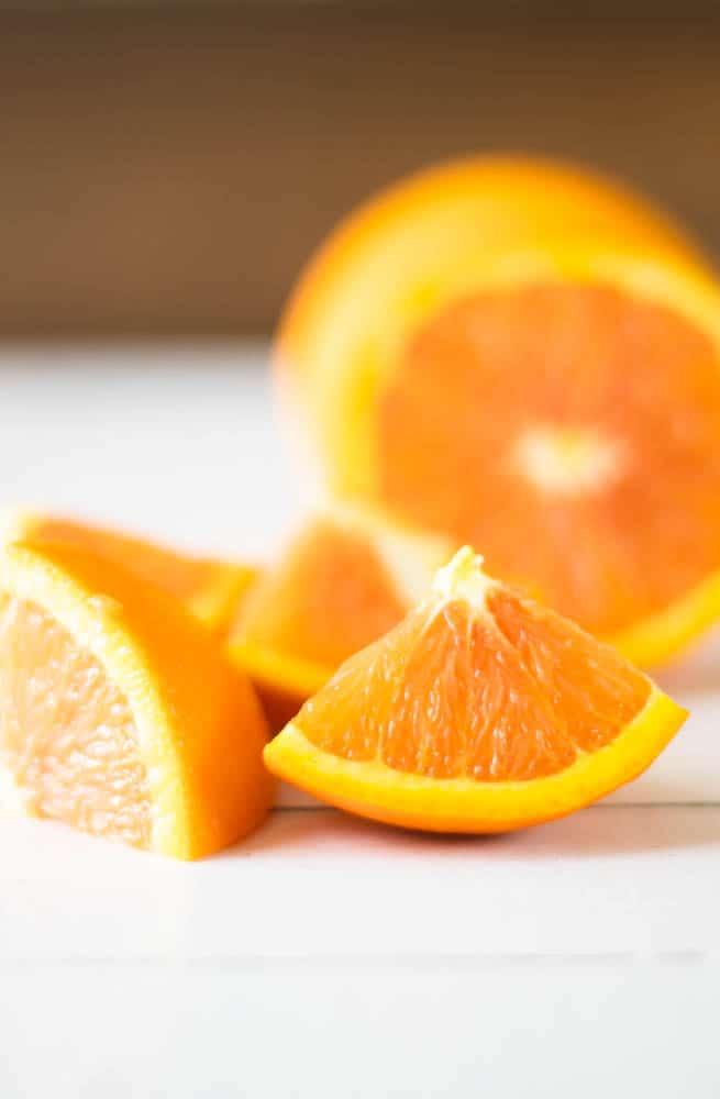 orange slices on white ship lap