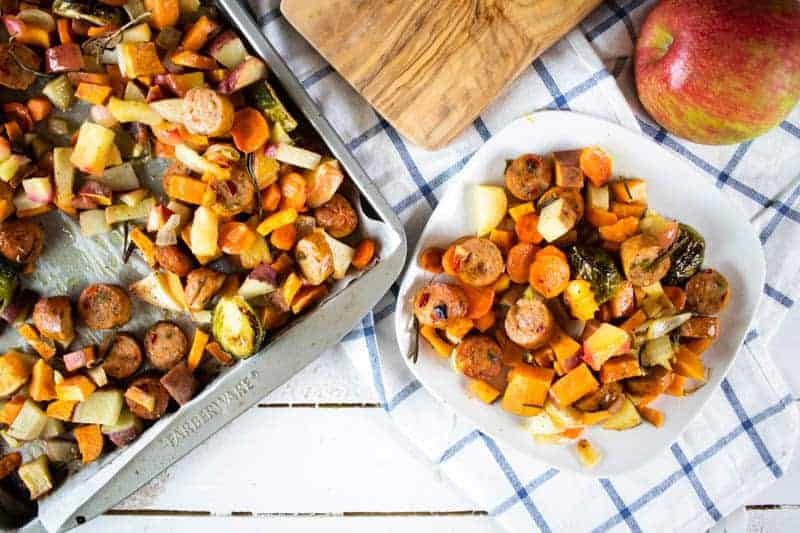 roasted vegetables sheet pan dinner