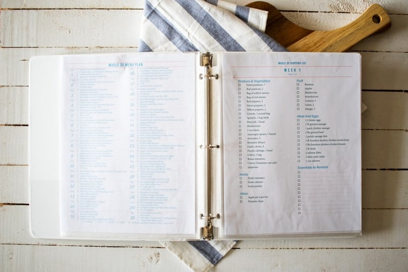 cookbook open on table