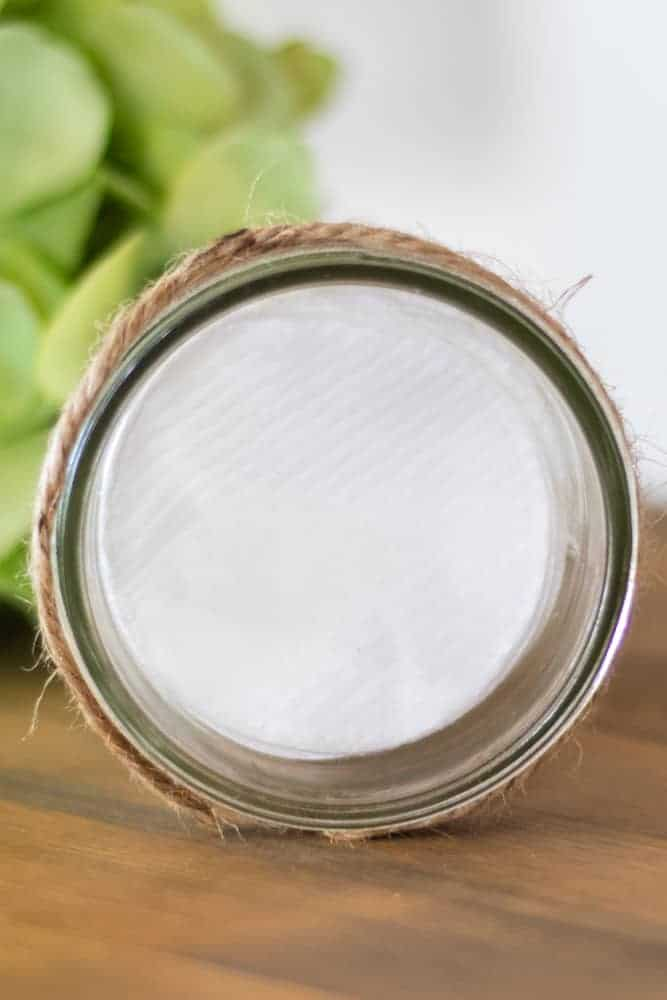 diy makeup remover cotton rounds in mason jar
