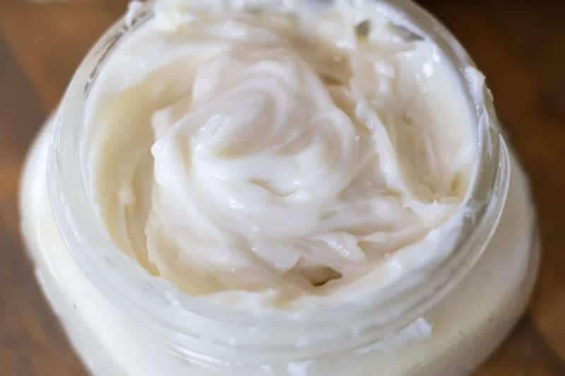 white whipped DIY Shaving cream