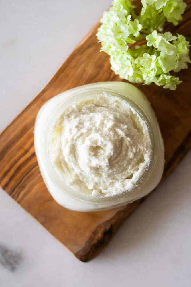 homemade lotion in mason jar