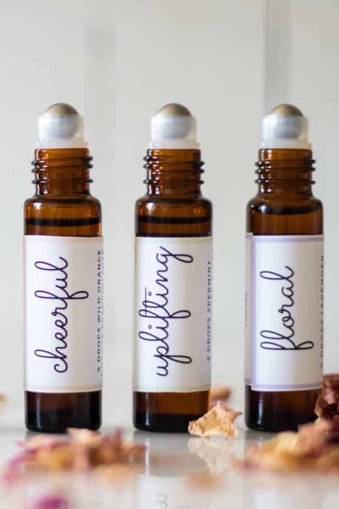 mother's day roller bottle blends; cheerful uplifting and floral