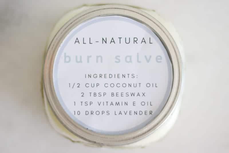 all natural burn salve