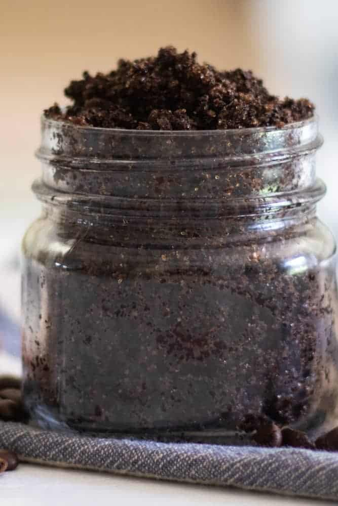 up close picture of coffee scrub