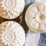 homemade cold process flower soap bars