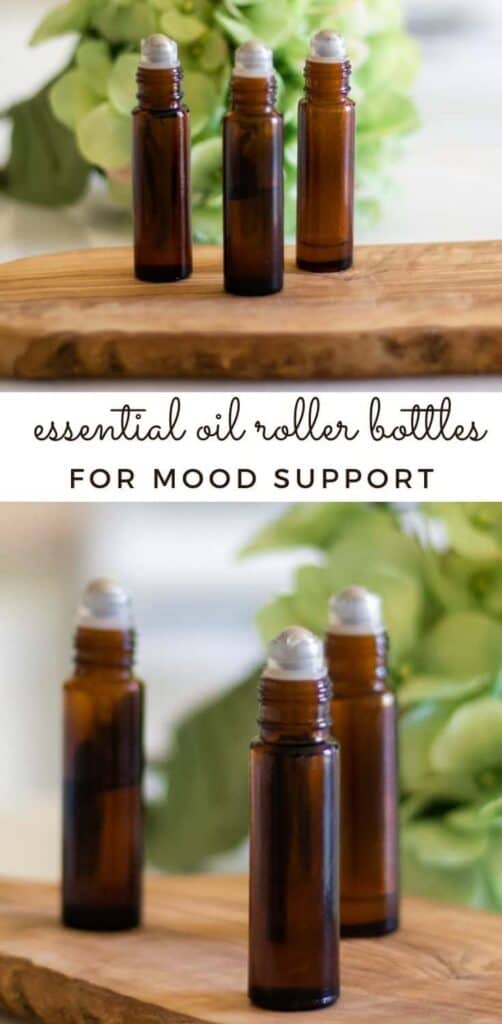 Learn how to make the top 5 essential oil roller bottles to improve mood, reduce stress, and brighten your day. #rollerbottle #essentialoilrollerbottles #essentialoilsformood