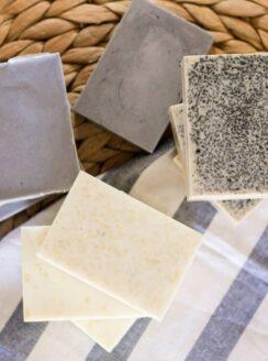 homemade goat milk soap bars