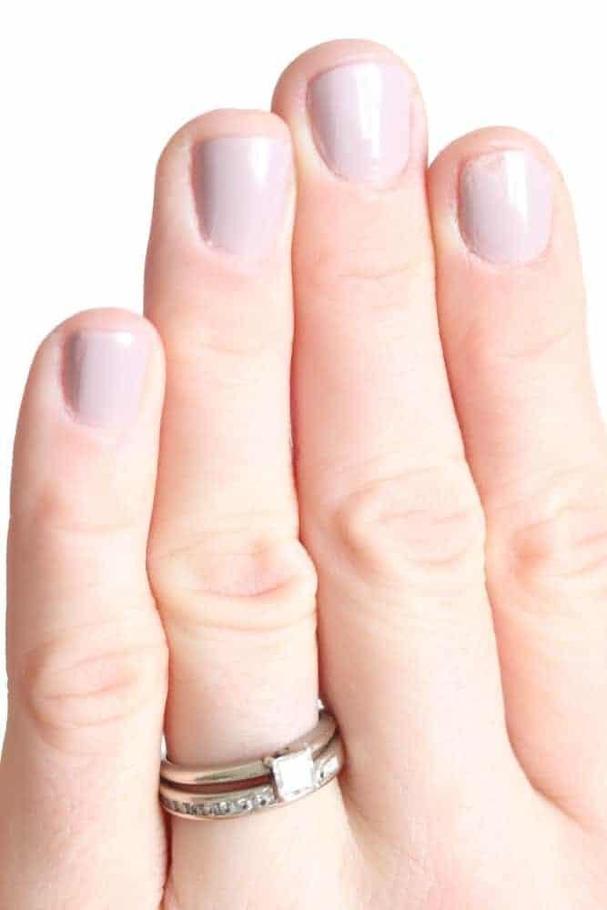 painted fingernails.