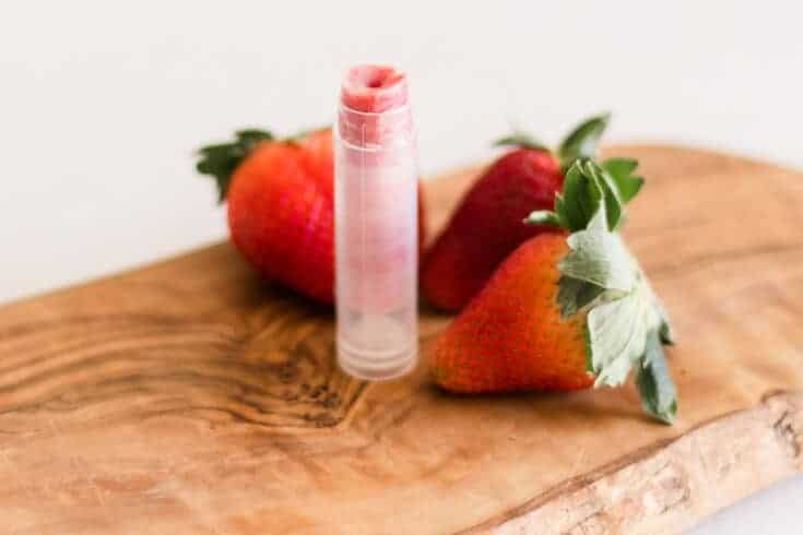 Homemade Sweet Strawberry Chapstick