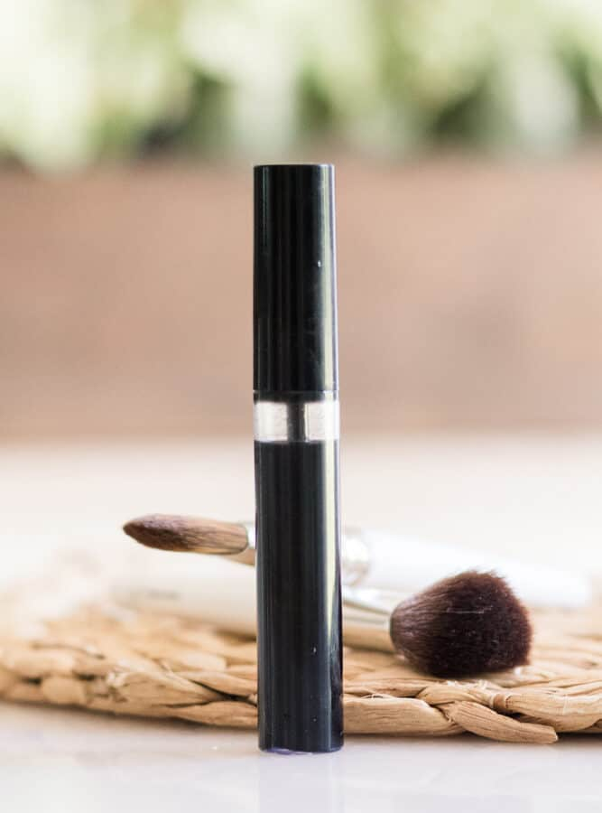 Homemade Mascara in a black tube with applicator.