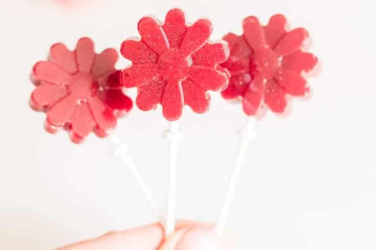 Homemade Strawberry Lollipops