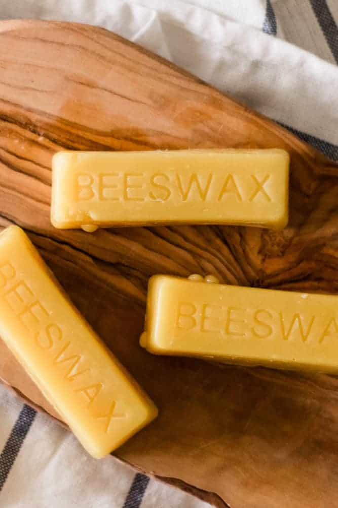 Beeswax bars with
